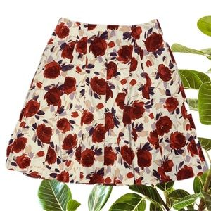 ANNE MARDELL Skirt Size 16 L A-Line Floral